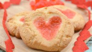 Recipe for Valentine Gummy Bear Sugar Cookies
